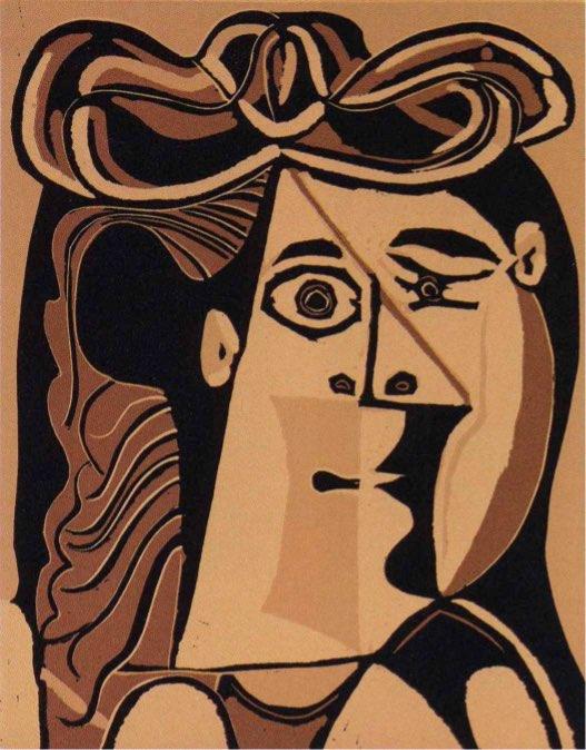 Pablo Picasso Femme au Chapeau, Linocut, signiert, Auflage 50 Stück