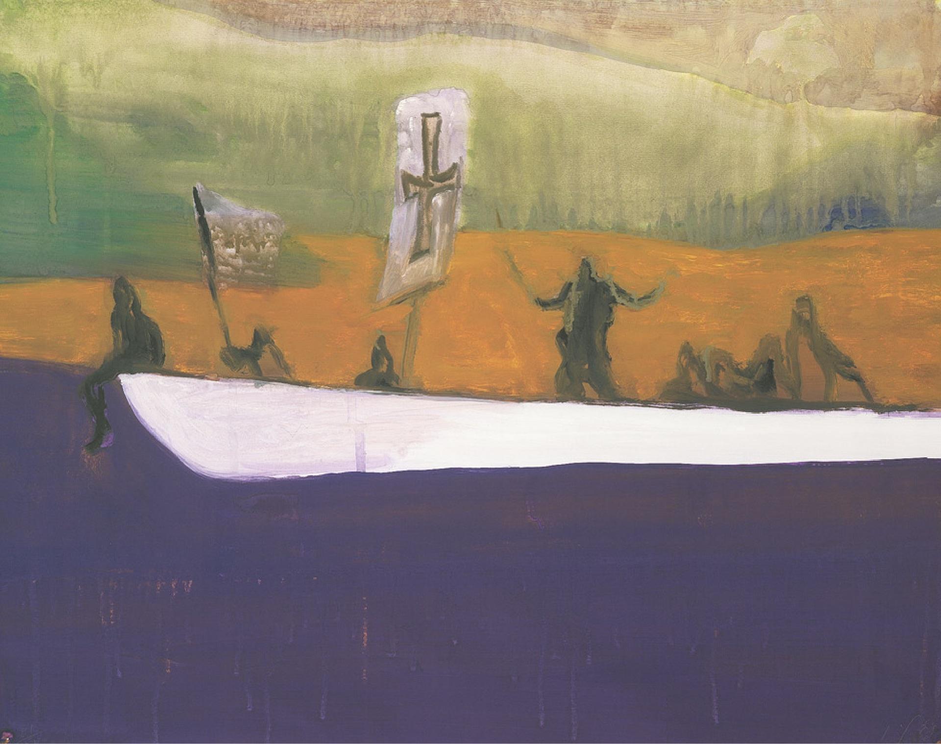 Kunstwerk Untitled ( Canoe ) des Künstlers Peter Doig kaufen