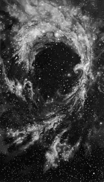 Robert Longo Rosette Nebula, Pigmentdruck, signiert, datiert, Auflage 25 Stück