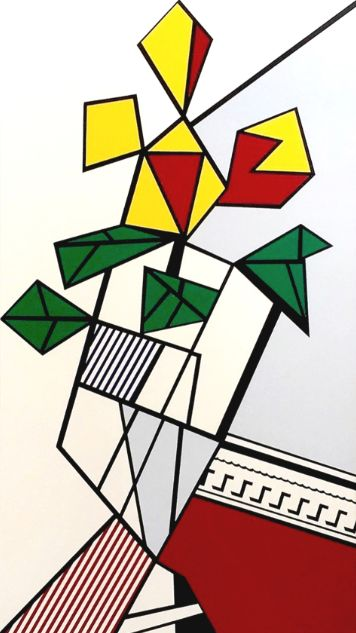 Roy Lichtenstein Flowers, Siebdruck, signiert, nummeriert, Auflage 380 Stück