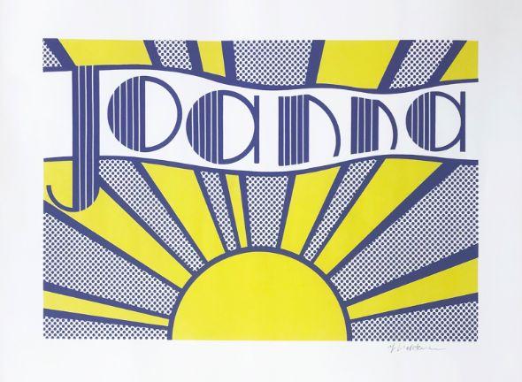 Roy Lichtenstein Joanna ( C. III.24 ), Farb-Offsetlithographie, signiert