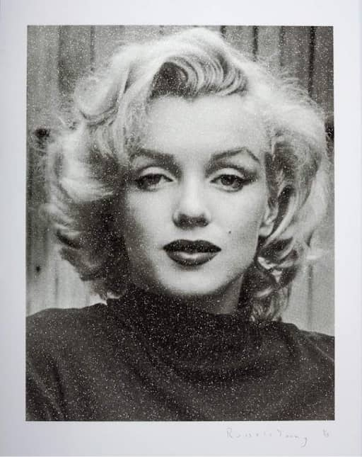 Russell Young Marilyn Hollywood - Superstar Black and White, Silkscreen with diamond dust, signed, numbered, edition 15