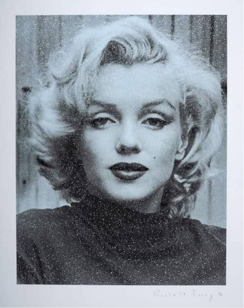 Russell Young Marilyn Hollywood - Superstar Blue, Silkscreen with diamond dust, signed, numbered, edition 15