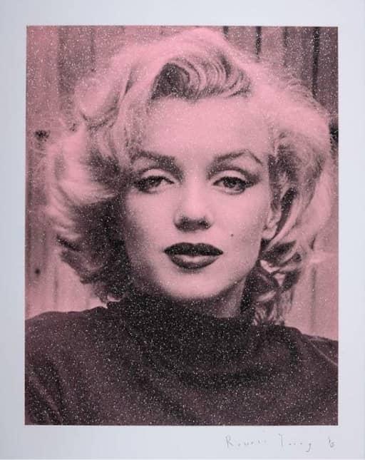 Russell Young Marilyn Hollywood - Superstar Pink, Siebdruck mit Diamantstaub, signiert, nummeriert, Auflage 15 Stück