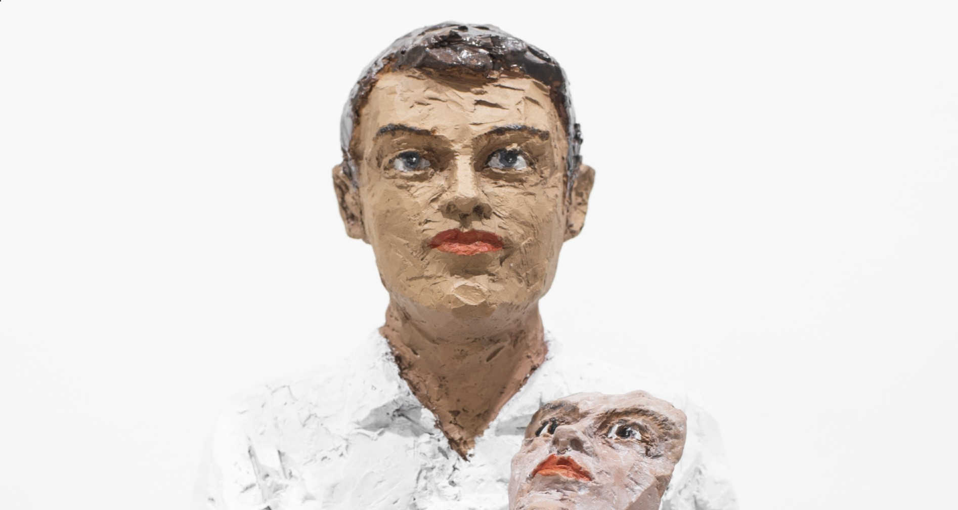 Stephan Balkenhol Mann mit Maske Skulptur Header