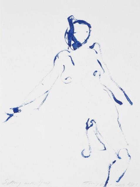 Tracey Emin Sitting with You, Radierung, signiert, nummeriert, Auflage 200 Stück